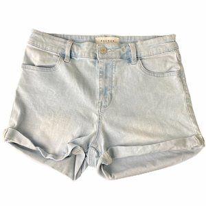 Pacsun Light Blue Wash Denim Shorts High Rise Supe
